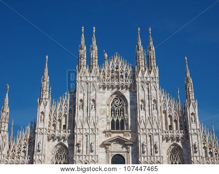 Duomo Meaning Cathedral In Milan