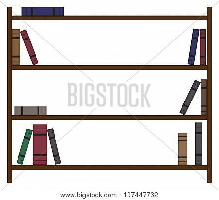 Empty Bookshelf With Few Books