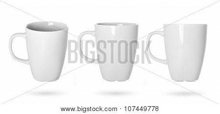 white cup on white background