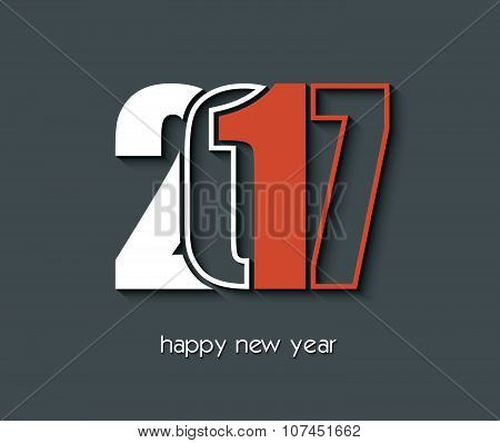 2017 Happy New Year Creative Background Design For Greetings Card