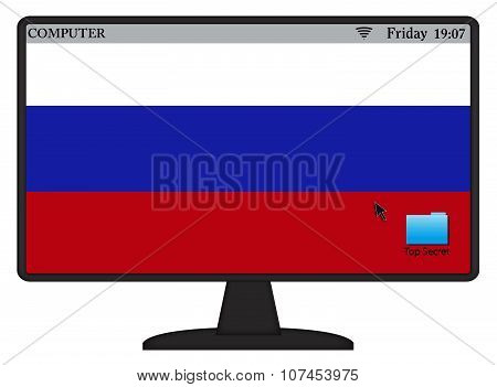 Russian Computer Flag