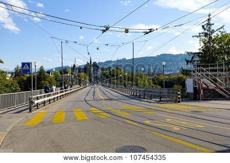 Bridge Over The Aare River In Bern