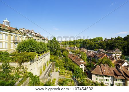 Cityscape Of The City Of Bern In Switzerland