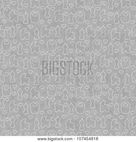 Gray Baby Tile Pattern Repeat Background