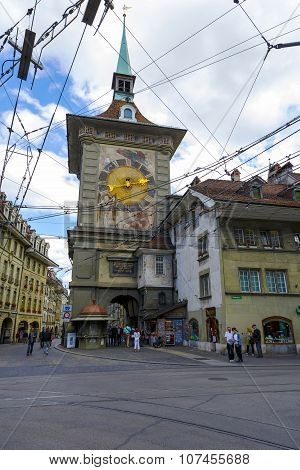 The Clock Tower In Bern In Switzerland