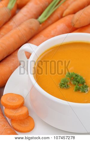 Carrot Soup With Many Carrots Closeup