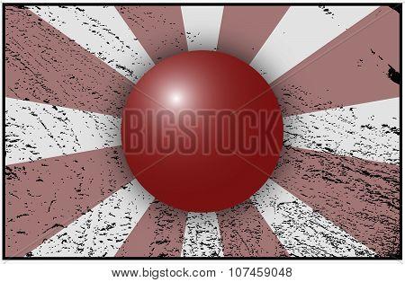 Japan Flag Grunged