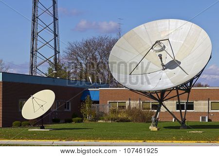 Broadcast Satellite Dishes At A Television Station II