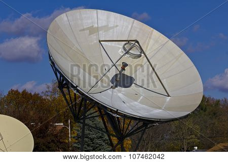 Broadcast Satellite Dishes At A Television Station III