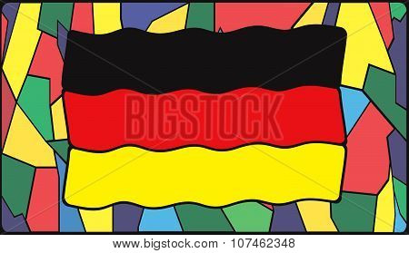 German Flag On Stained Glass