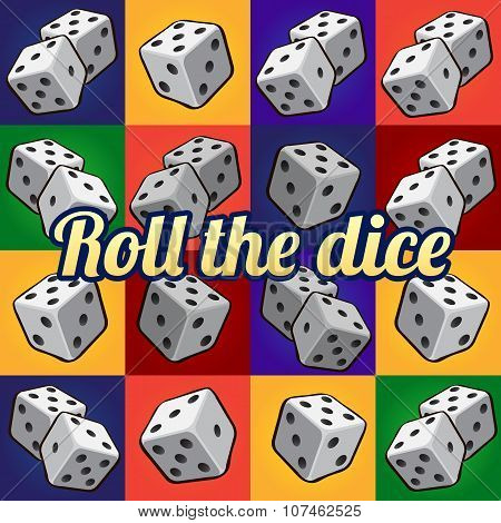 Roll the dice, big set on a different background