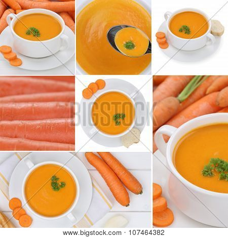 Collection Of Carrot Soup Soups With Carrots In Bowl