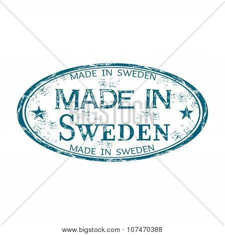 Made in Sweden rubber stamp
