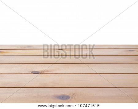 Wooden Planks Background Isolated On White