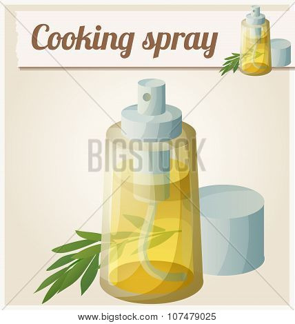 Detailed Icon. Cooking oil spray