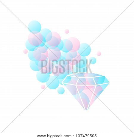 Abstract Diamond Shaped