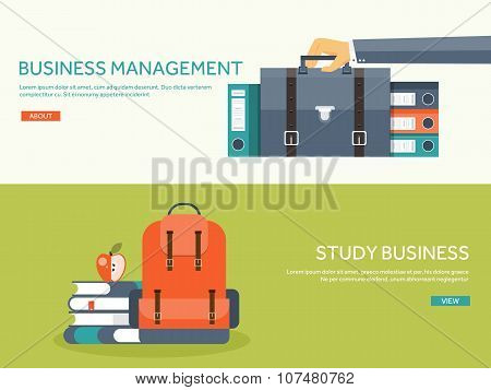 Vector illustration. Flat portfolio with hand and office folder. Paperwork, business ,routine.