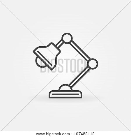 Vector table-lamp icon