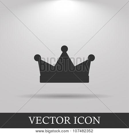 Crown Icon. Flat Design Style.