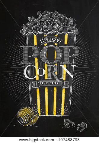 Poster Popcorn Butter Black