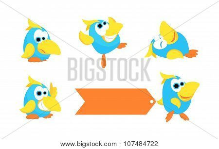 Comic Funny Birds