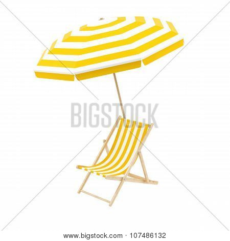 deck chair with umbrella