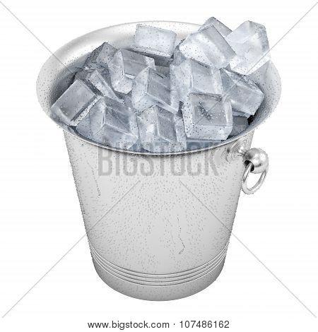 bucket full of ice