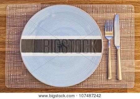 Dinner Plate For Botswana
