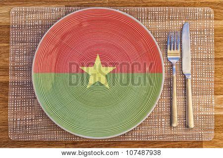Dinner Plate For Burkina Faso