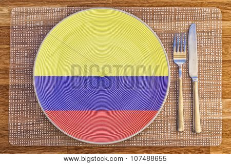 Dinner Plate For Colombia