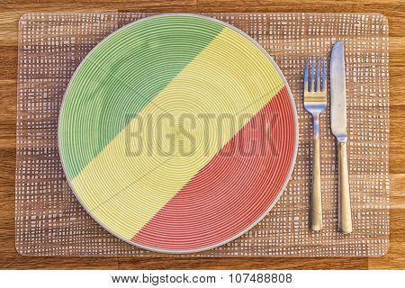 Dinner Plate For Congo Brazzaville