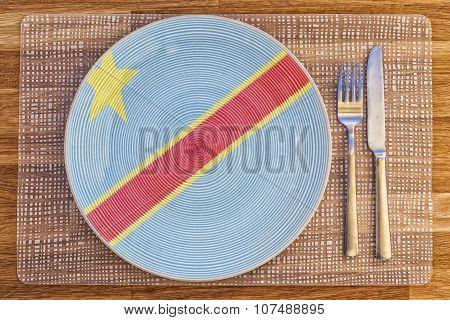 Dinner Plate For Congo Kinshasa