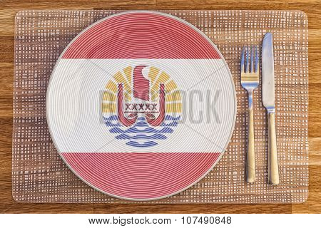 Dinner Plate For French Polynesia