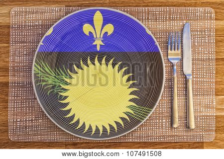 Dinner Plate For Guadeloupe