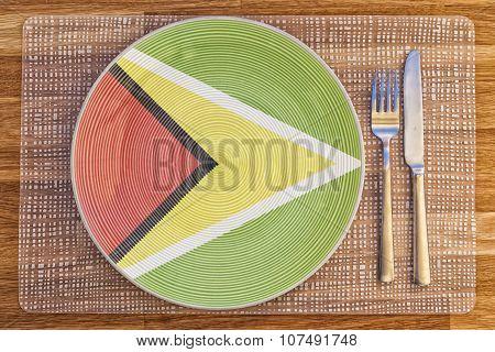 Dinner Plate For Guyana