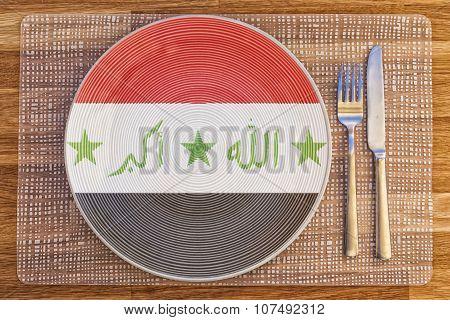 Dinner Plate For Iraq