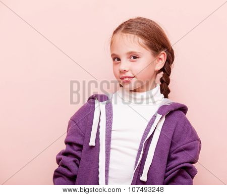 Young Girl In Hoodie