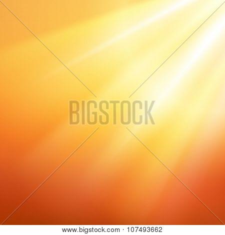 Rays_sunshine_on_orange_backgroup
