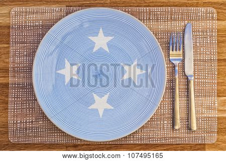 Dinner Plate For Micronesia