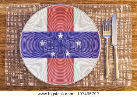 Dinner Plate For Netherlands Antilles