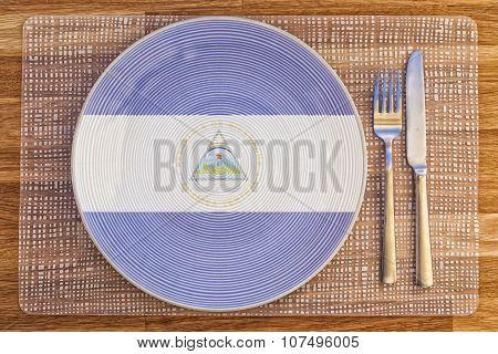 Dinner Plate For Nicaragua