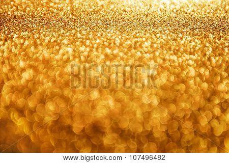 Lights Background, Abstract Blur Light, Golden Glow Lighting Bokeh