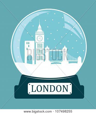 London Christmas Glass Ball.