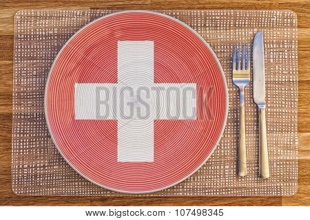 Dinner Plate For Switzerland