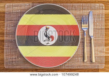 Dinner Plate For Uganda
