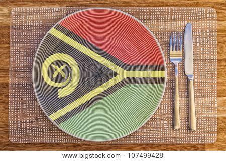 Dinner Plate For Vanuatu
