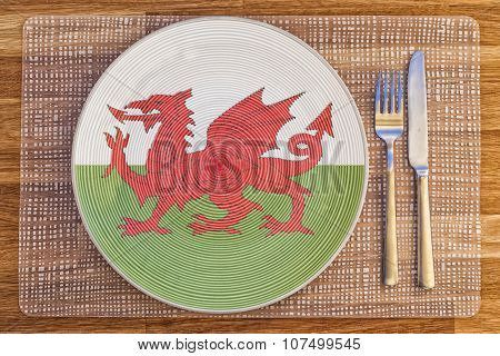 Dinner Plate For Wales