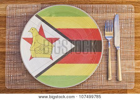 Dinner Plate For Zimbabwe