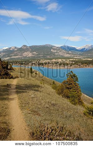Bike And Hike Trail In The Mountains