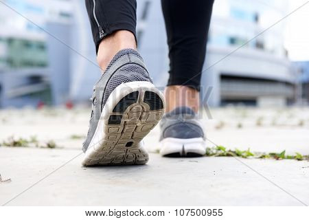 Sport Shoes Walking Outside